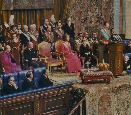 22 novembre 1975 prestation de serment du roi Jean-Charles 1er (2)