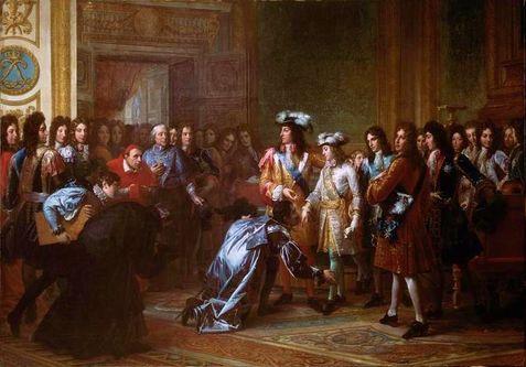 Philippe duc d'Anjou proclamé roi d'Espagne par son grand'père Louis XIV