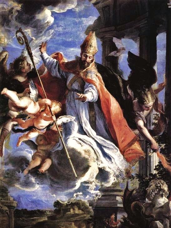Claudio Coello triomphe de St Augustin - 1664 (Madrid - Prado)