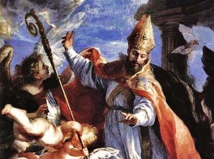 Claudio Coello triomphe de St Augustin - détail