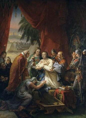 St Louis recevant le saint viatique - Charles Meynier