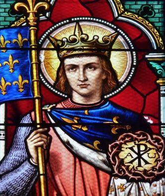 Vitrail de Saint Louis avec la Sainte Couronne d'épines