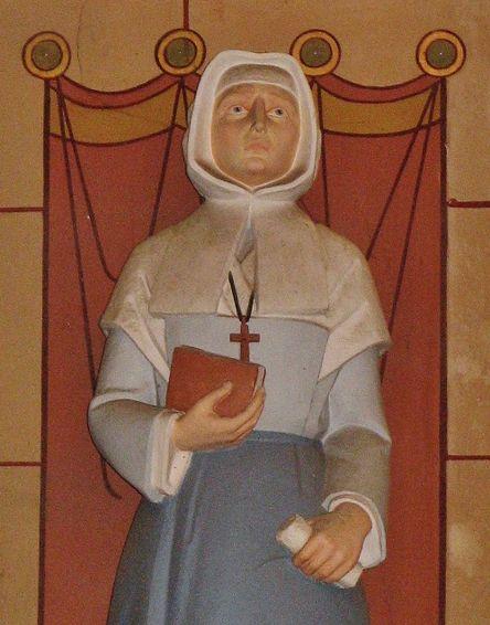 Bse Françoise Mézières - statue de l'église de Mézangers (détail)