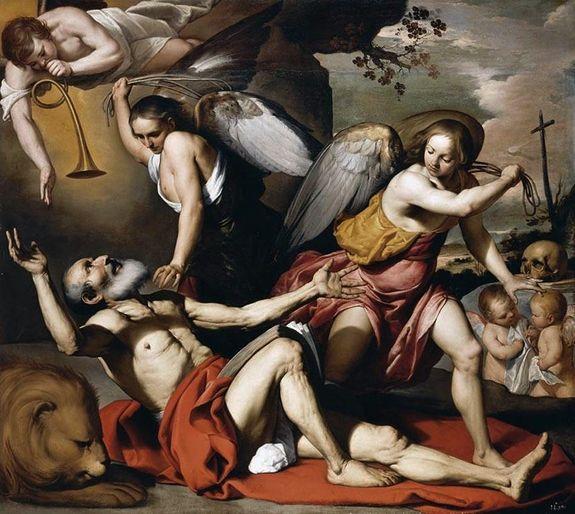 Bernardino Mei 1557-60 vision de Saint Jérôme
