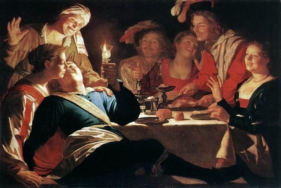 Gerrit van Honthorst - 1622 - la débauche du fils prodigue
