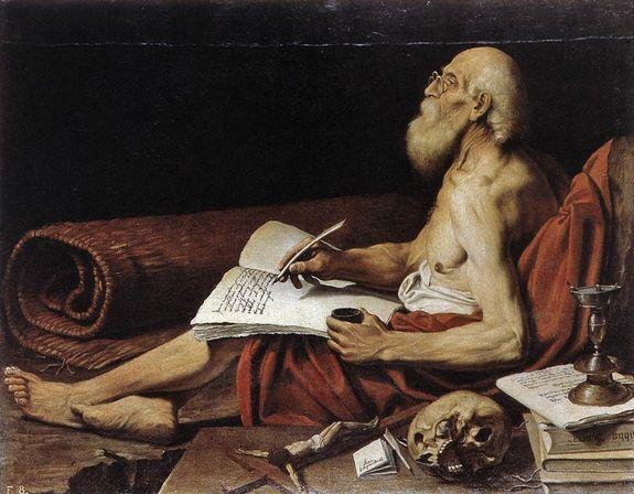 Lionello Spada 1610 Saint Jérôme dans sa cellule