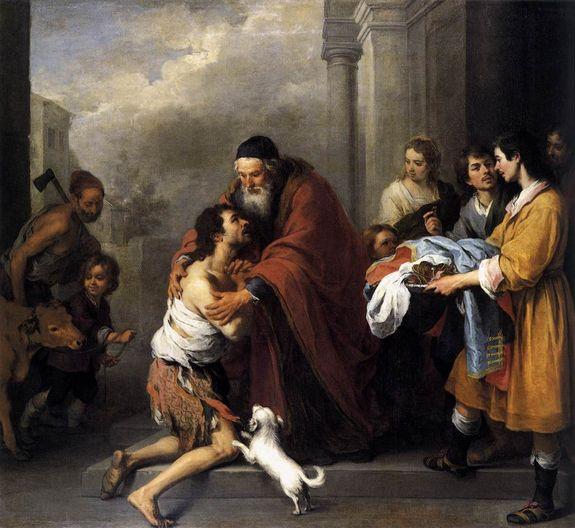 Murillo - le retour de l'enfant prodigue (1667-70)