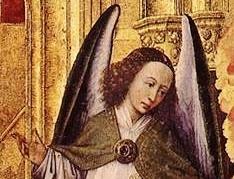 Rogier van der Weyden triptyque jugement Beaune détail - l'ange