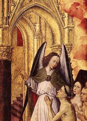 Rogier van der Weyden triptyque jugement Beaune détail
