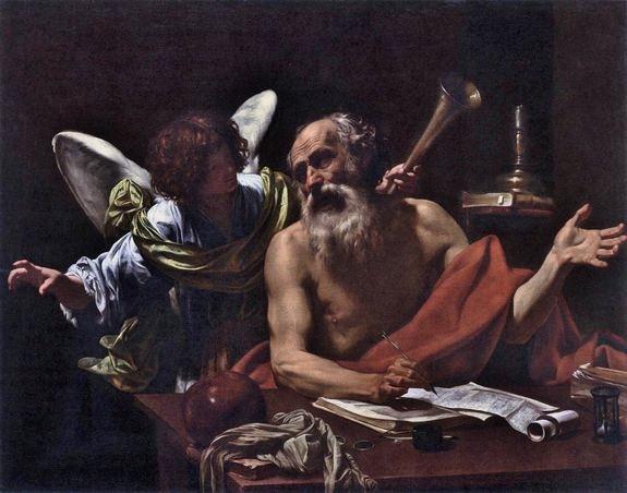 Simon Vouet 1622-25 Saint Jérôme et l'ange