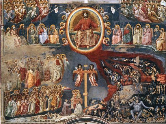 Chapelle Scrovegni à Padoue fresque du Jugement dernier Giotto di Bondone 1306