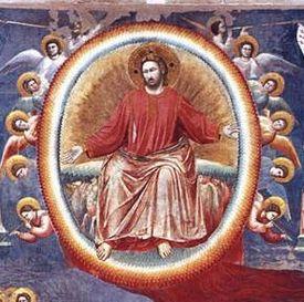Giotto di Bondone - Christ du Jugement, fresque de Padoue 1306