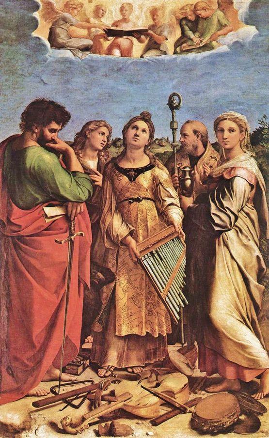Raphaël l'extase de Sainte Cécile 1514-15 - Bologne