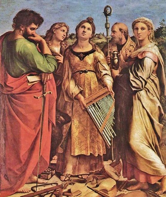 Raphaël l'extase de Sainte Cécile - deuxième plan