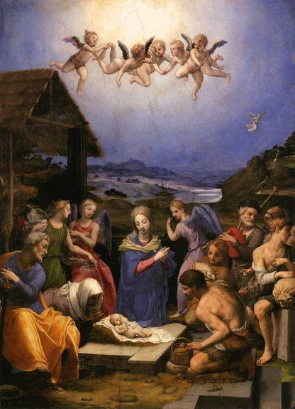 Agnolo Bronzino L'adoration des bergers 1539-40