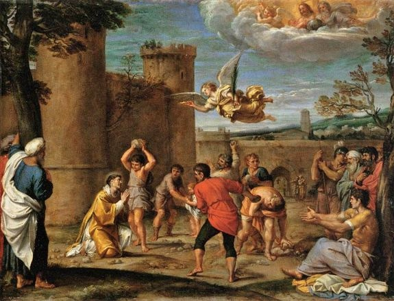 Annibale Carraci - le martyre de Saint Etienne