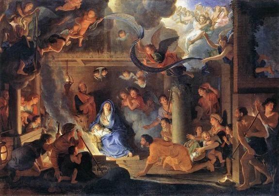 Charles le Brun - adoration des bergers - 1689 (Louvre)