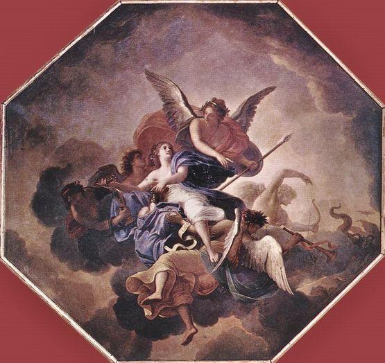 Charles le Brun le triomphe de la foi - Vaux le vicomte 1658-60
