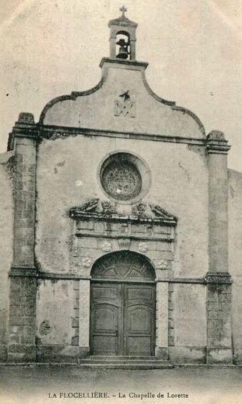 Façade de la chapelle ND de Lorette à La Flocellière (vue ancienne)