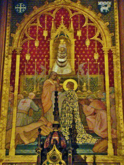 Lorette, chapelle française - St Louis recevant la communion dans la Ste Maison