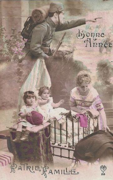 Noël 1914 - Bonne Année Patrie Famille