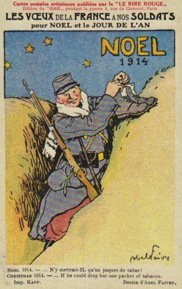 Noël 1914 - les chaussures du soldat pour le père Noël
