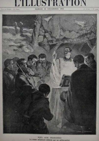 Noël 1914 - messe de minuit dans les tranchées