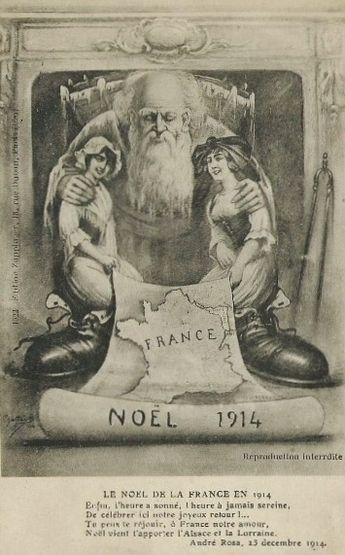 Noël 1914 - retour de l'Alsace-Lorraine