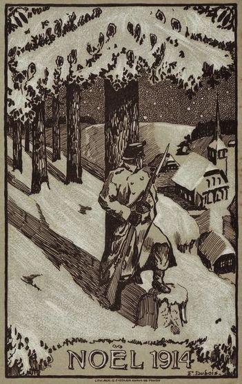 Noël 1914 - soldat montant la garde