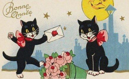 bonne année chats