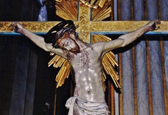 Crucifix chapelle Rome