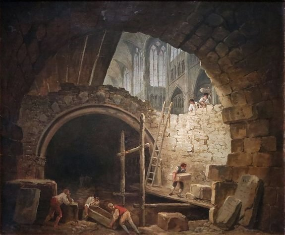 Hubert Robert - Violation des sépultures royales à Saint-Denis