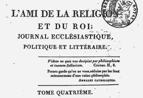 L'Ami de la Religion et du Roi 1815