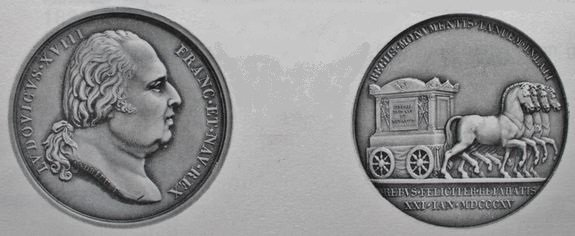 Médaille commémorative du transfert à Saint-Denis 21 janvier 1815
