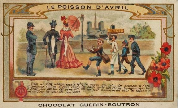 Poisson d'Avril - image de tablette de chocolat