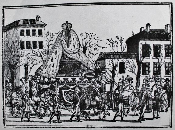 Transfert des cendres royales à Saint-Denis le 21 janvier 1815