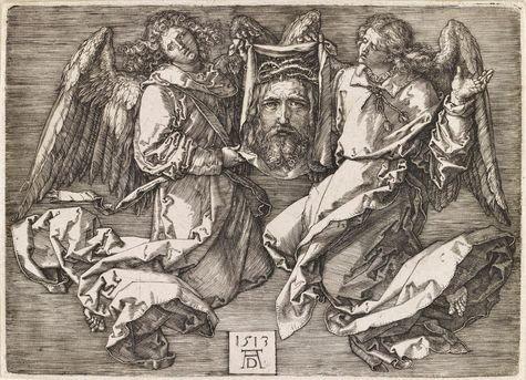 A. Dürer - la Ste Face portée par deux anges - Louvre