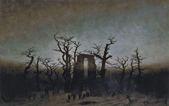 Caspar David Friedrich l'abbaye dans une forêt de chênes