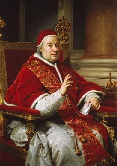 Clément XIII portrait par Anton Raphaël Mengs