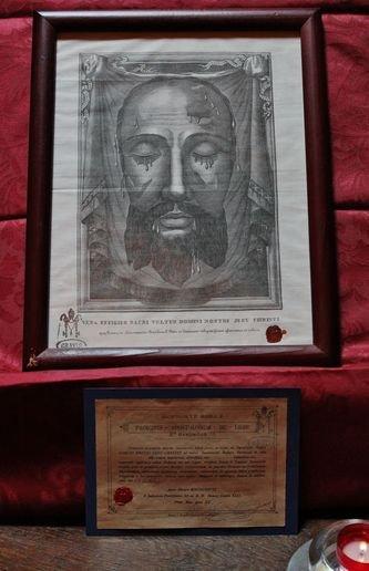 Oratoire du Mesnil-Marie exposition de  la Sainte Face