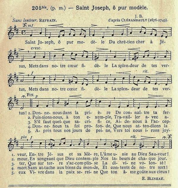 Cantique Saint Joseph ô pur modèle - Clérambault