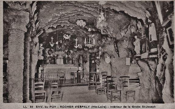 Espaly-Saint-Marcel -grotte-chapelle de Saint Joseph - état ancien
