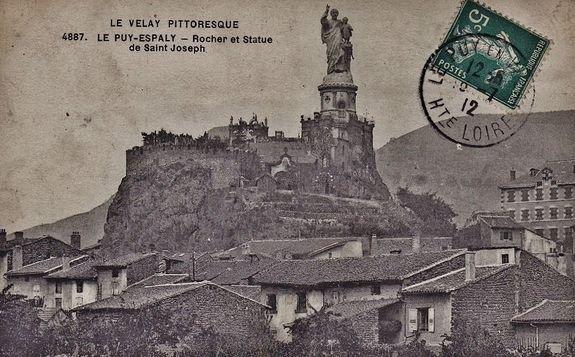 Espaly-Saint-Marcel sanctuaire de Saint Joseph et statue monumentale avant la construction de la basilique