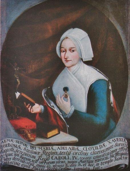 La Vénérable Marie-Clotilde de France en habit de tertiaire