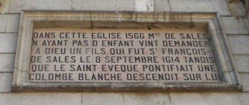 plaque commémorative ND de Liesse Annecy
