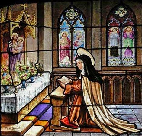 Sainte Thérèse d'Avila priant Saint Joseph