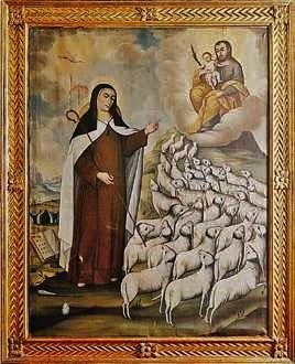 Sainte Thérèse en bergère, tableau de Joaquin Gutiérrez - carmel de Bogota