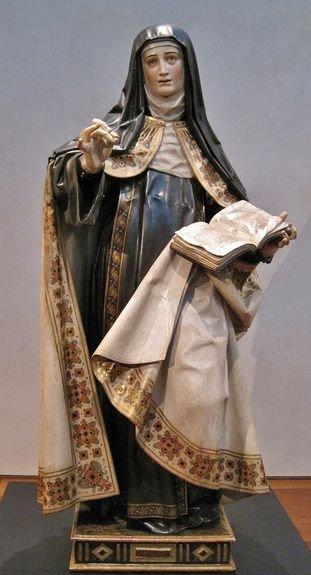 Statue de Sainte Thérèse par Gregorio Fernandez - 1625