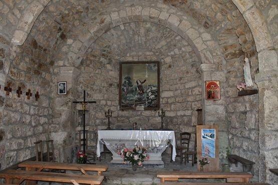 Burzet, chapelle du Villard - intérieur