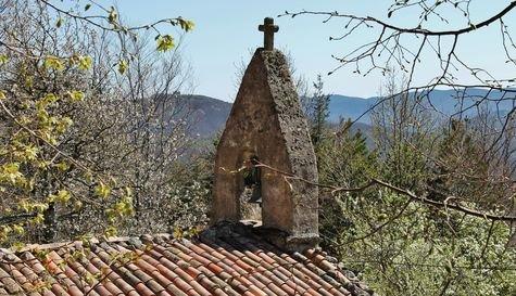 Burzet, hameau du Villard, campanile de la chapelle Saint Bénézet